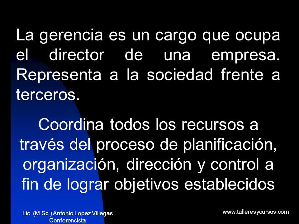 Lic. (M.Sc.) Antonio Lopez Villegas Conferencista www.talleresycursos.com ?Y qué es la comunicación?