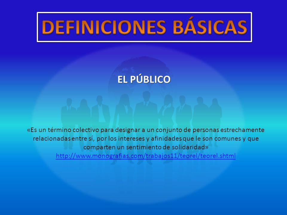 TIPOS DE PÚBLICOS Interno Ej.: empleados, directivos, los accionistas mayoritarios, otros.