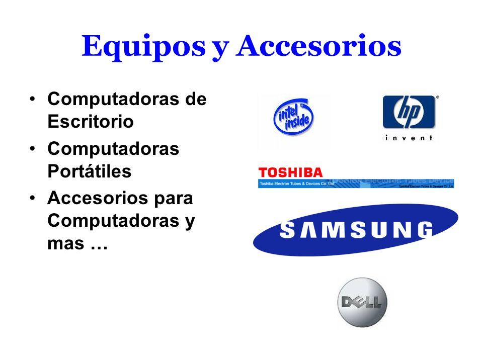 Equipos y Accesorios Computadoras de Escritorio Computadoras Portátiles Accesorios para Computadoras y mas …