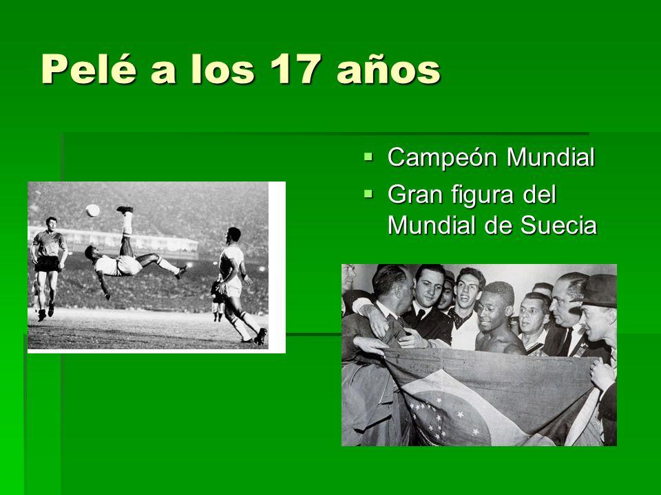 Pelé – Estadísticas 3 Mundiales - (1958, 1962 e 1970) 2 Mundiales Interclubes - Santos (1962 e 1963) 2 Copas Libertadores da América - Santos (1962 e 1963) 10 Campeonatos Paulistas - Santos (1958, 1960, 1961, 1962, 1964, 1965, 1967, 1968, 1969 e 1973) 5 Tazas Brasil - Santos (1961, 1962, 1963, 1964 e 1965) 4 Torneos Rio-Sao Paulo - Santos (1959, 1963, 1964 e 1966) 1 Campeonato Nacional de los Estados Unidos - Cosmos 1281 goles en 1363 juegos Con la Selección Brasileña : 92 juegos – 97 goles