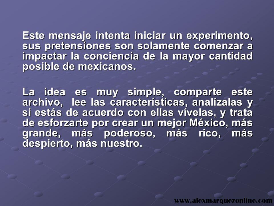 MEXICANOS DEL SIGLO XXI INSTITUTO DE INVESTIGACION EMPRESARIAL DEL FUTURO, A.C. Derechos Reservados