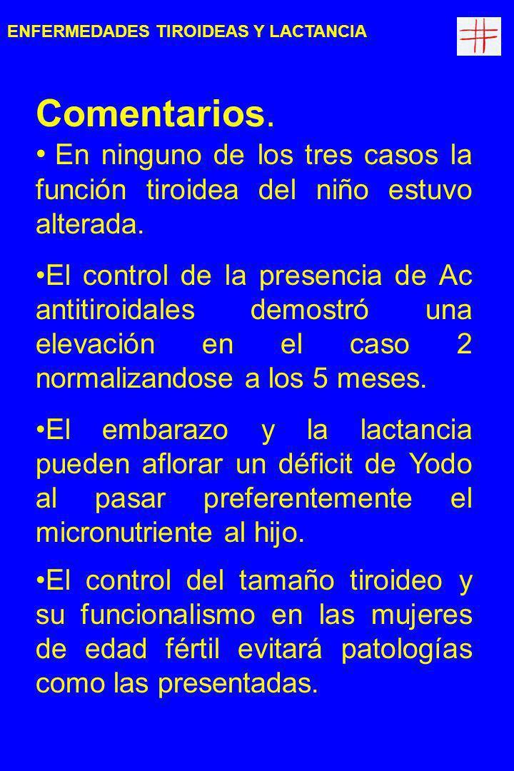 Conclusiones: En España, con bocio endémico, la patología tiroidea es más frecuente de lo supuesto El uso universal de sal yodada es una recomendación sanitaria necesaria.