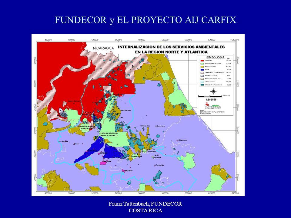 Franz Tattenbach, FUNDECOR COSTA RICA FUNDECOR y EL PROYECTO AIJ CARFIX
