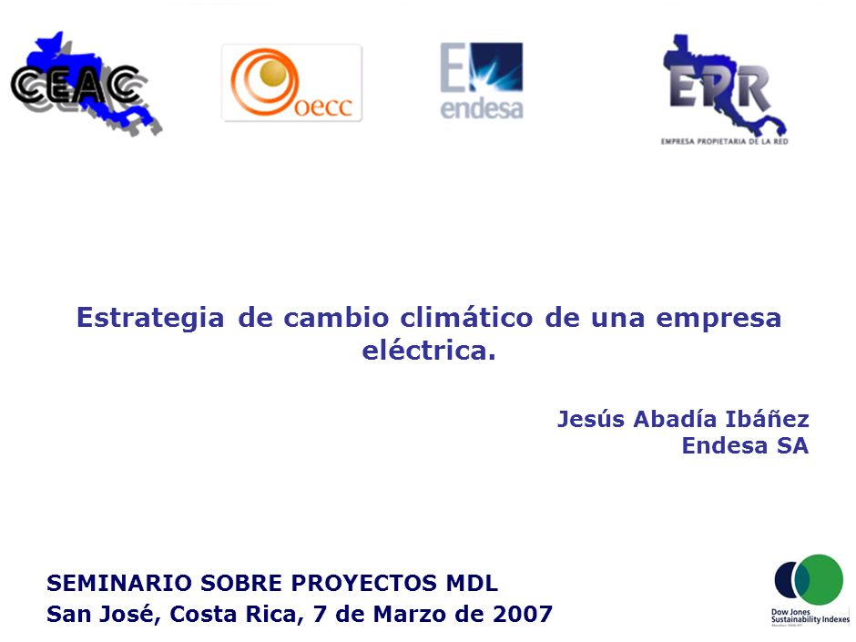 20 Endesa Climate Iniciative (ECI) Lanzada en noviembre de 2005 en Madrid.