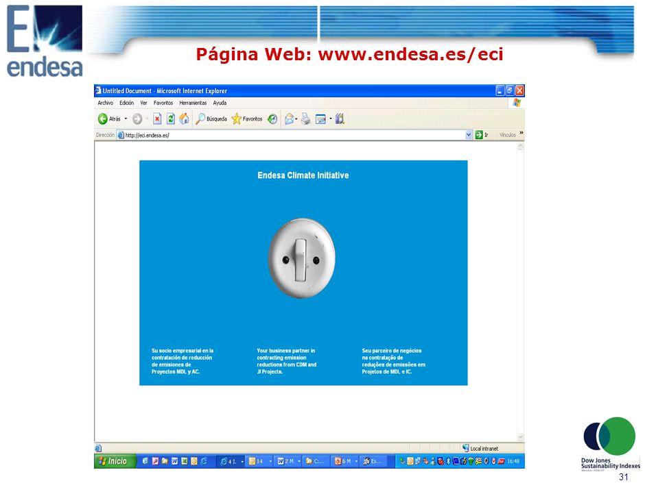 30 Página Web: www.endesa.es/eci