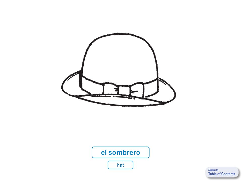 el sombrero hat
