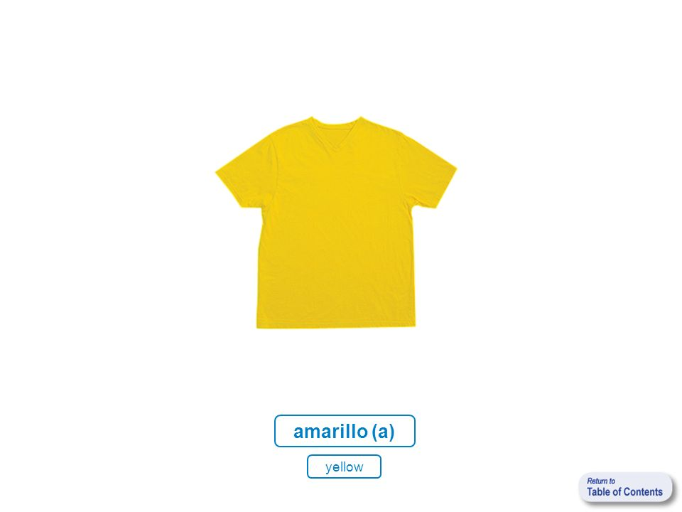 amarillo (a) yellow