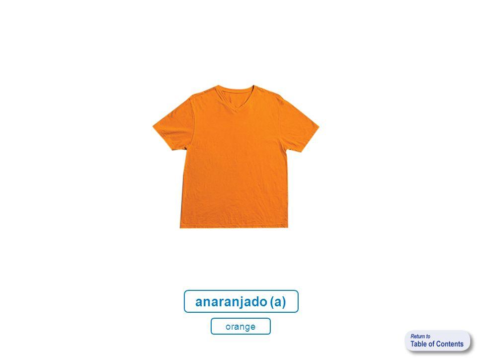 anaranjado (a) orange