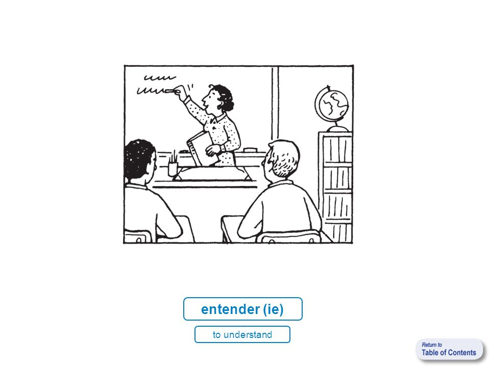 entender (ie) to understand