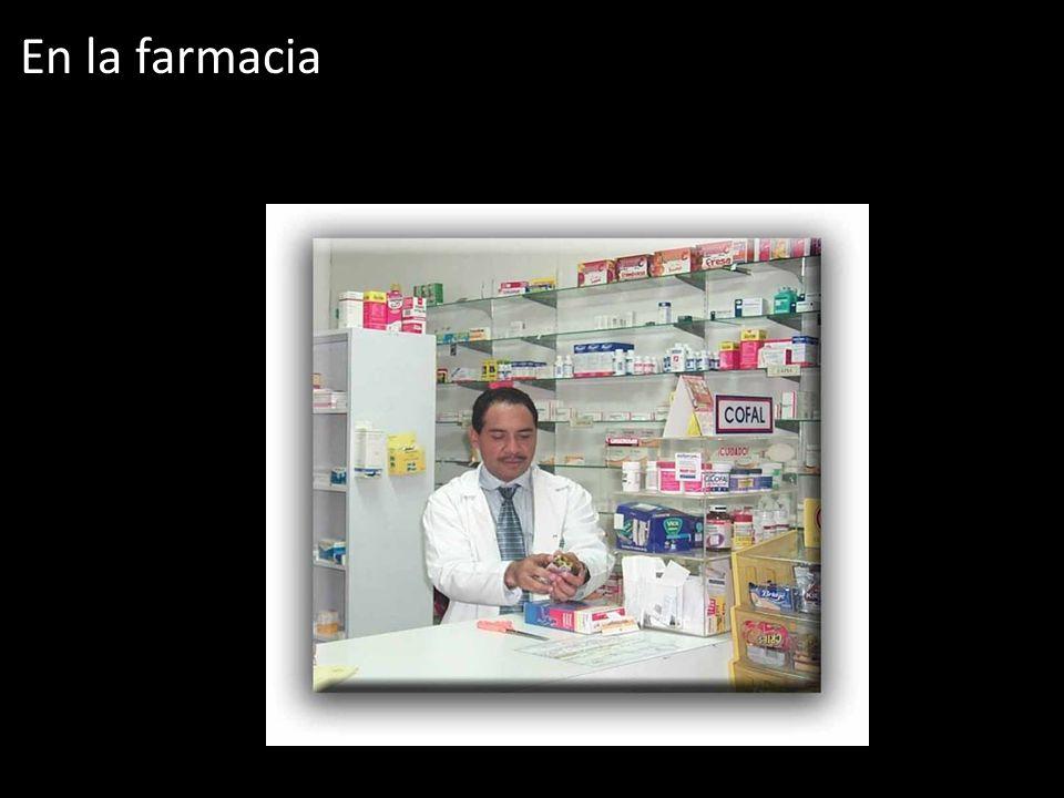 En la farmacia