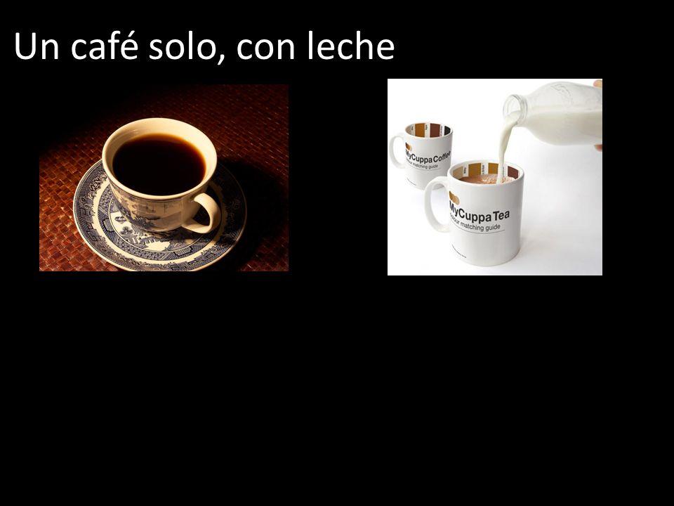 Un café solo, con leche