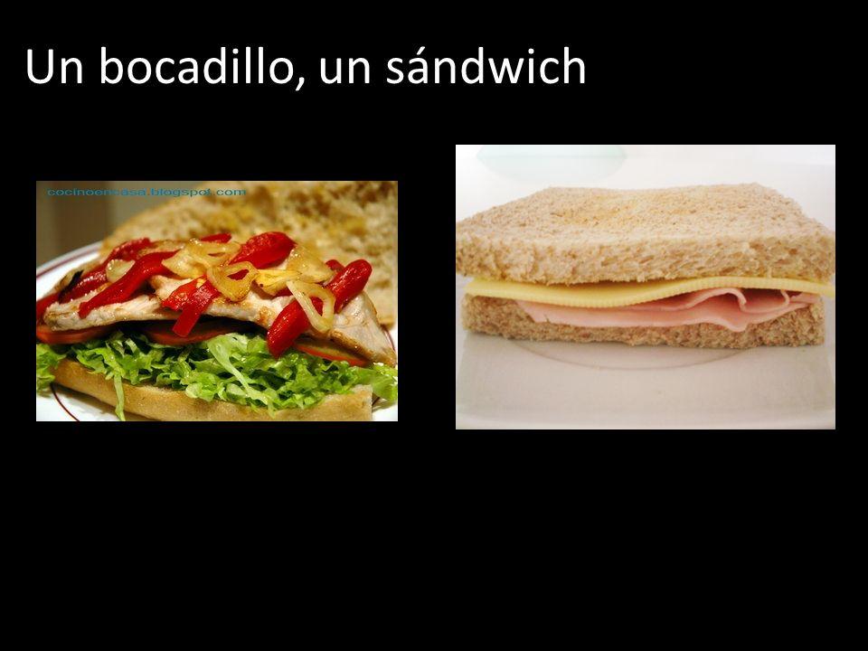 Un bocadillo, un sándwich