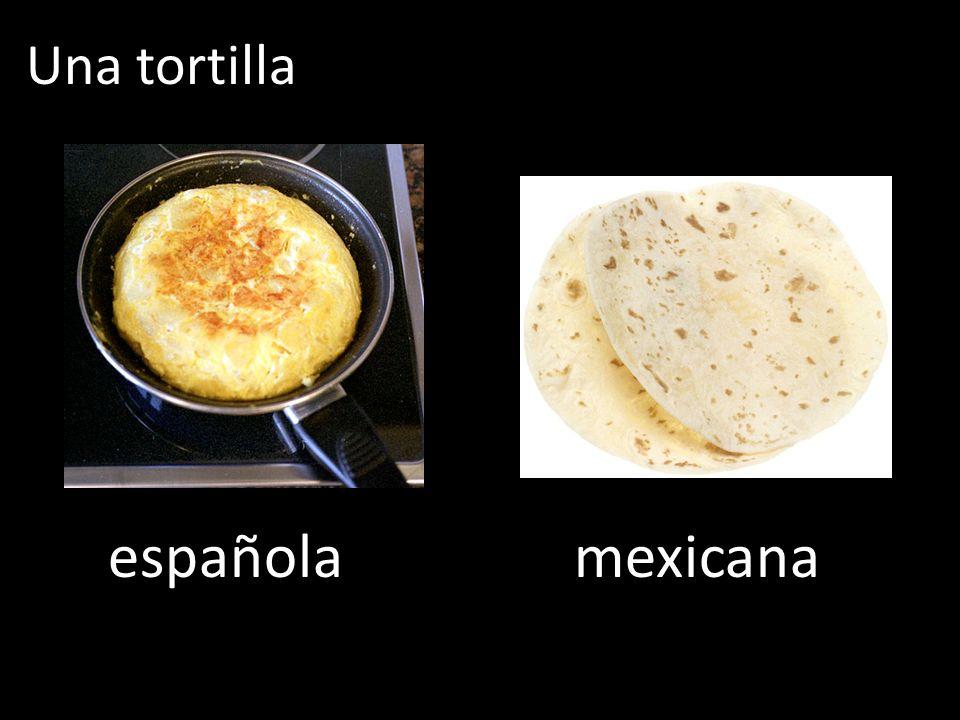 Una tortilla española mexicana
