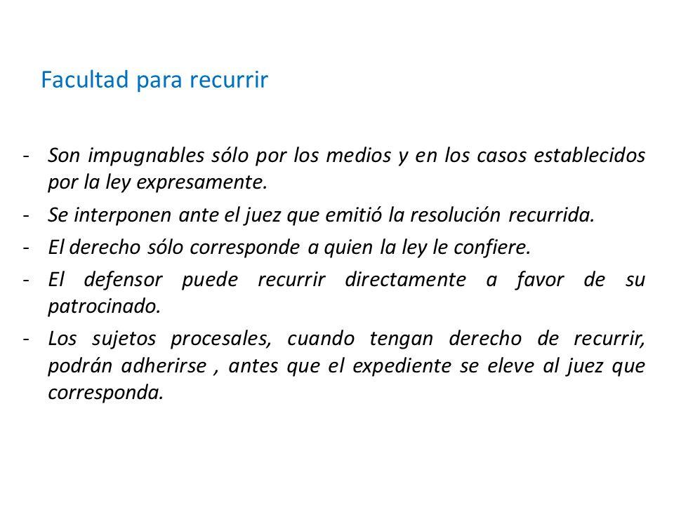 Requisitos para su admisión -Debe ser presentado por quien resulte agraviado por la resolución.