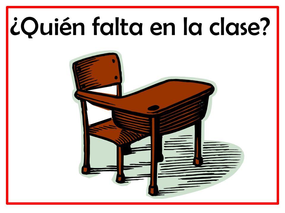 ¿Quién falta en la clase?
