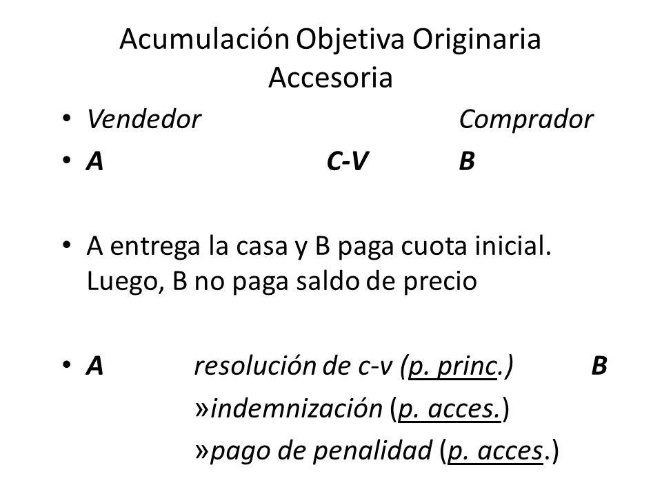 Acumulación Objetiva Sucesiva Se presenta en los siguientes casos (art.