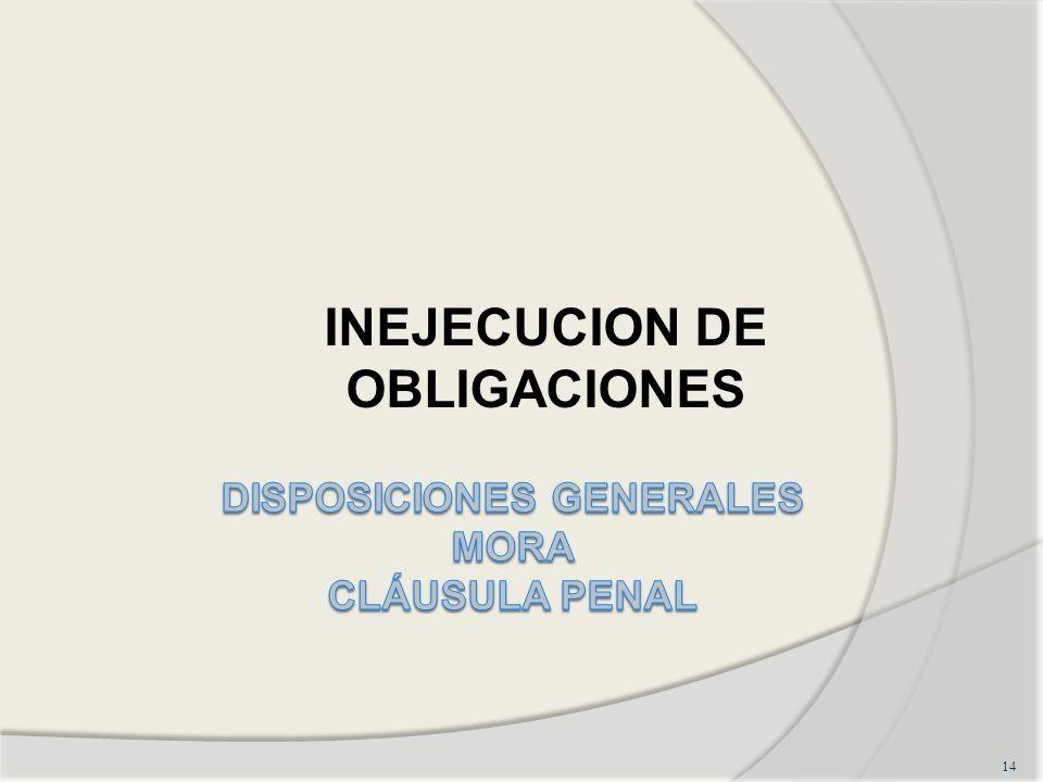 14 INEJECUCION DE OBLIGACIONES