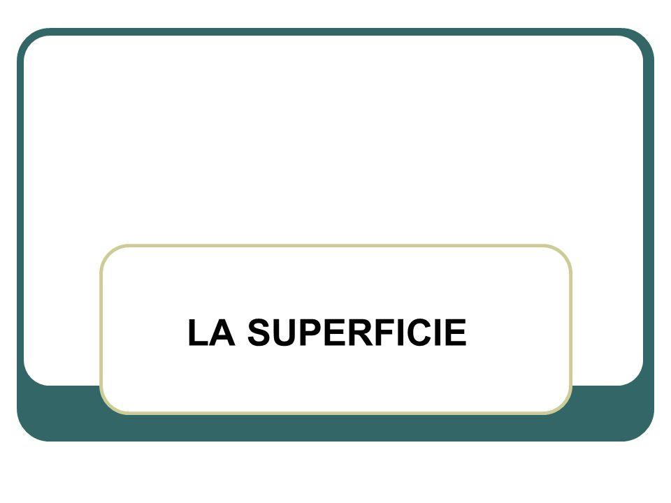 LA SUPERFICIE