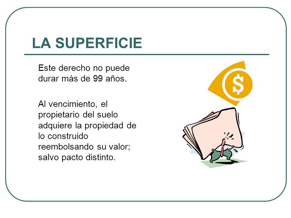 Concepto: El superficiario goza de facultad de tener temporalmente una construcción en propiedad separada sobre o bajo la superficie del suelo… (Art.1