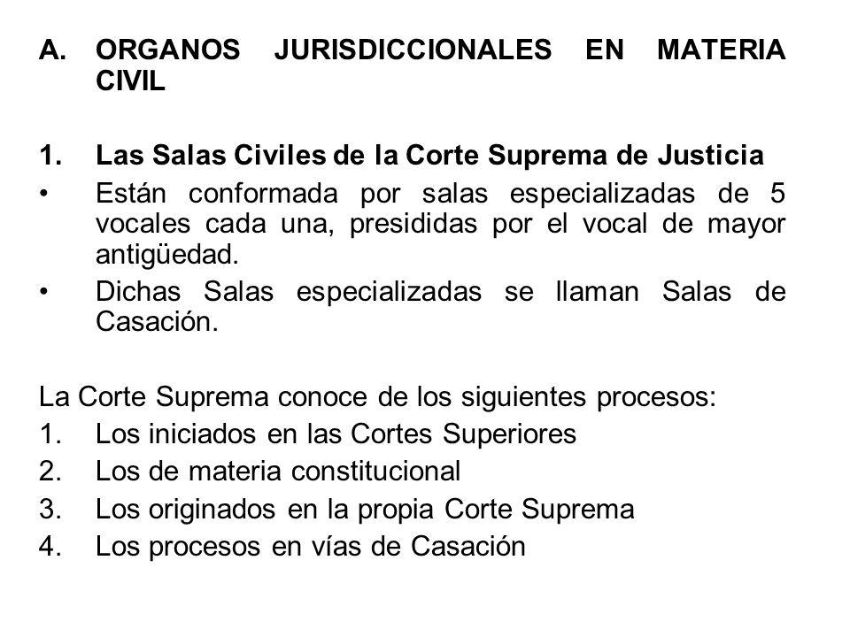 2.Las Salas Civiles de las Cortes Superiores de Justicia Están conformadas por salas civiles o mixtas de tres vocales cada una, las que resuelven en segunda y última instancia los asuntos de su competencia.