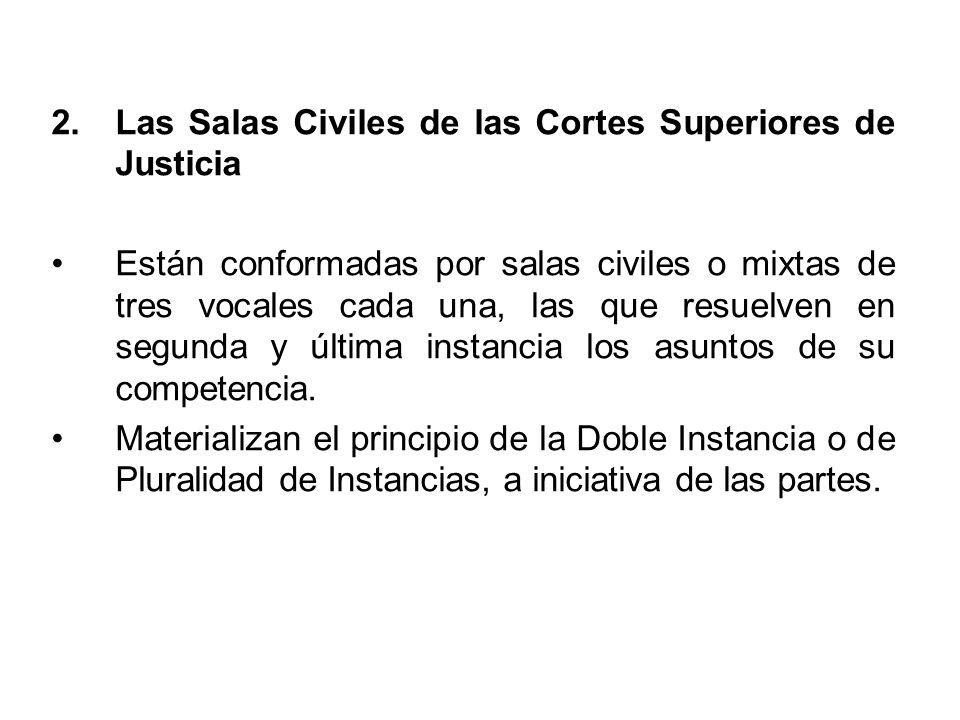 3.Los Juzgados Especializados y Mixtos en materia civil Constituyen la primera instancia.
