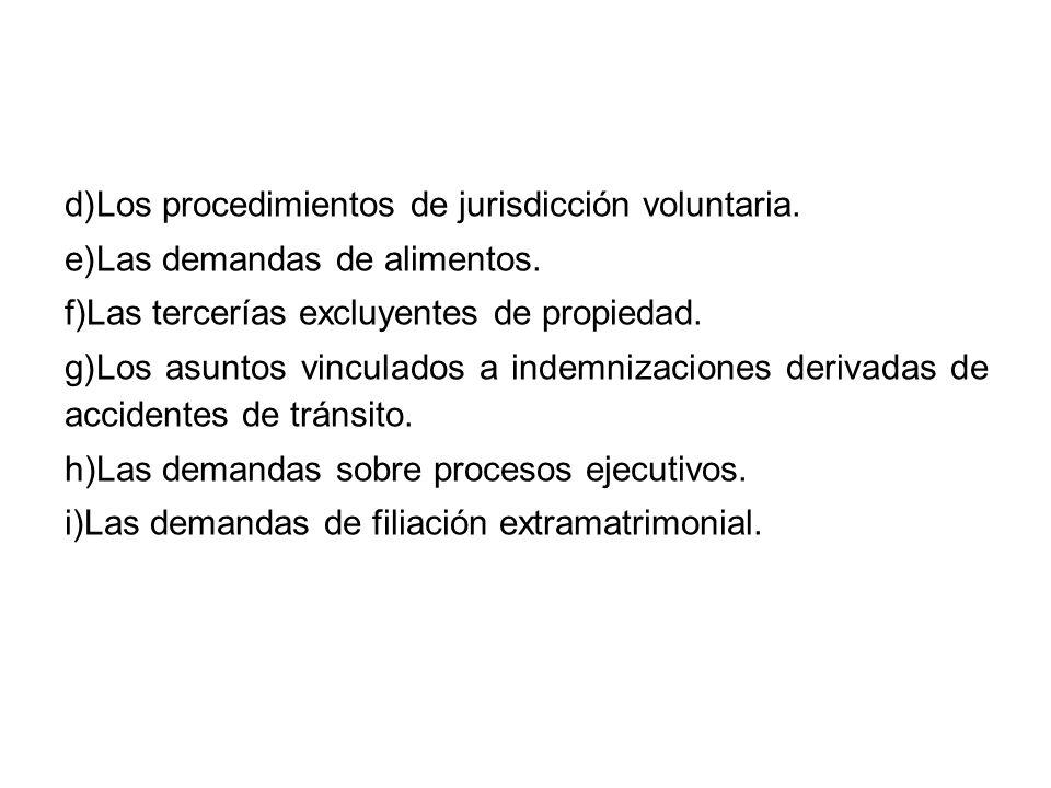 Los Juzgados de Paz no letrados están prohibidos de conciliar y fallar asuntos relativos a: 1.Divorcios y separaciones de cuerpo 2.Nulidad y anulabilidad de actos jurídicos o contratos.