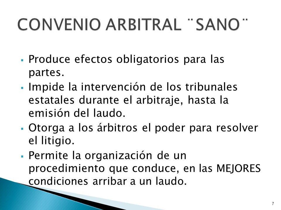 Son convenios arbitrales de contenido ambiguo, de difícil entendimiento o poco claro, expresados en deficiencias de redacción o acuerdo.