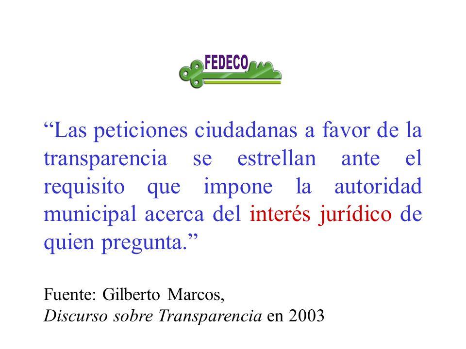 Las peticiones ciudadanas a favor de la transparencia se estrellan ante el requisito que impone la autoridad municipal acerca del interés jurídico de quien pregunta.