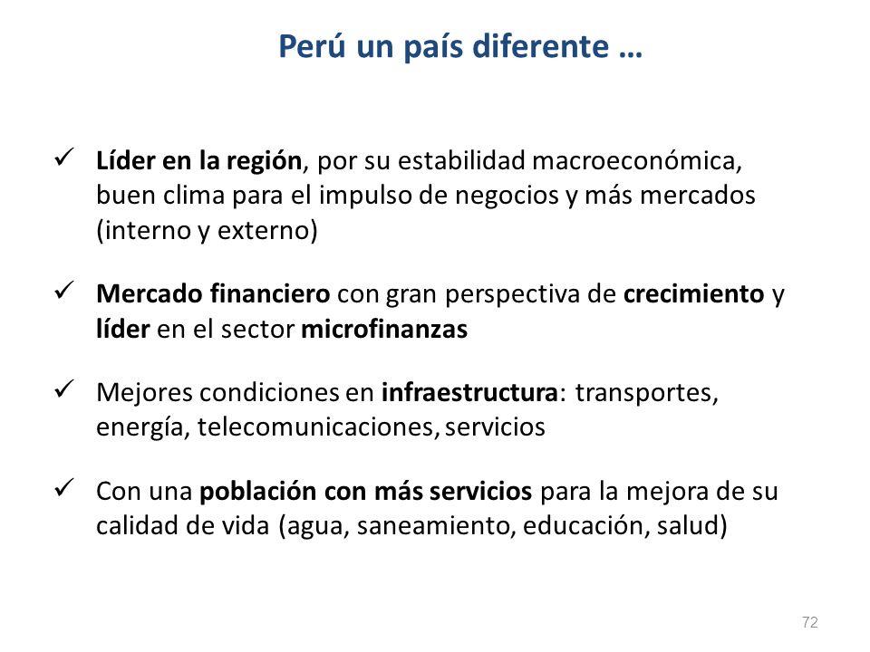Líder en la región, por su estabilidad macroeconómica, buen clima para el impulso de negocios y más mercados (interno y externo) Mercado financiero co