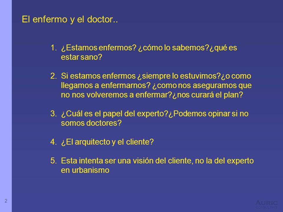 2 Auric consulting El enfermo y el doctor.. 1.¿Estamos enfermos? ¿cómo lo sabemos?¿qué es estar sano? 2.Si estamos enfermos ¿siempre lo estuvimos?¿o c