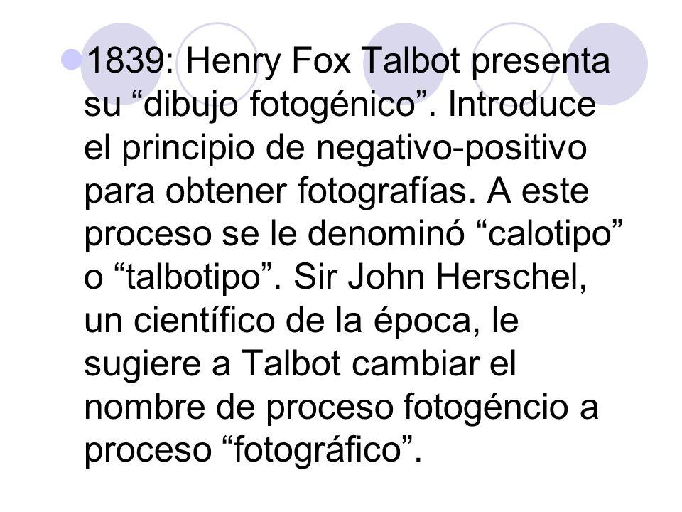 1851: se sustituye papel por placa de cristal para grabar un negativo.