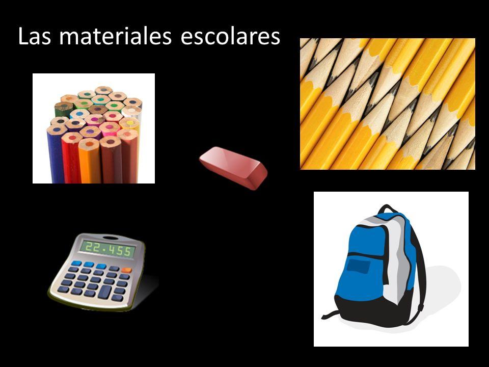 Las materiales escolares