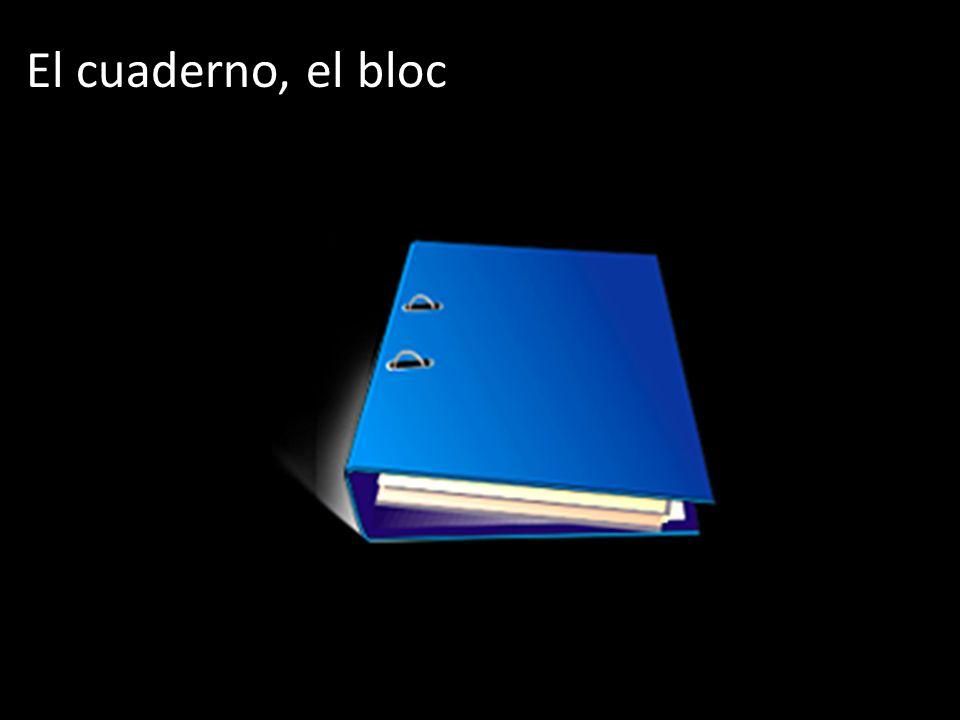 El cuaderno, el bloc