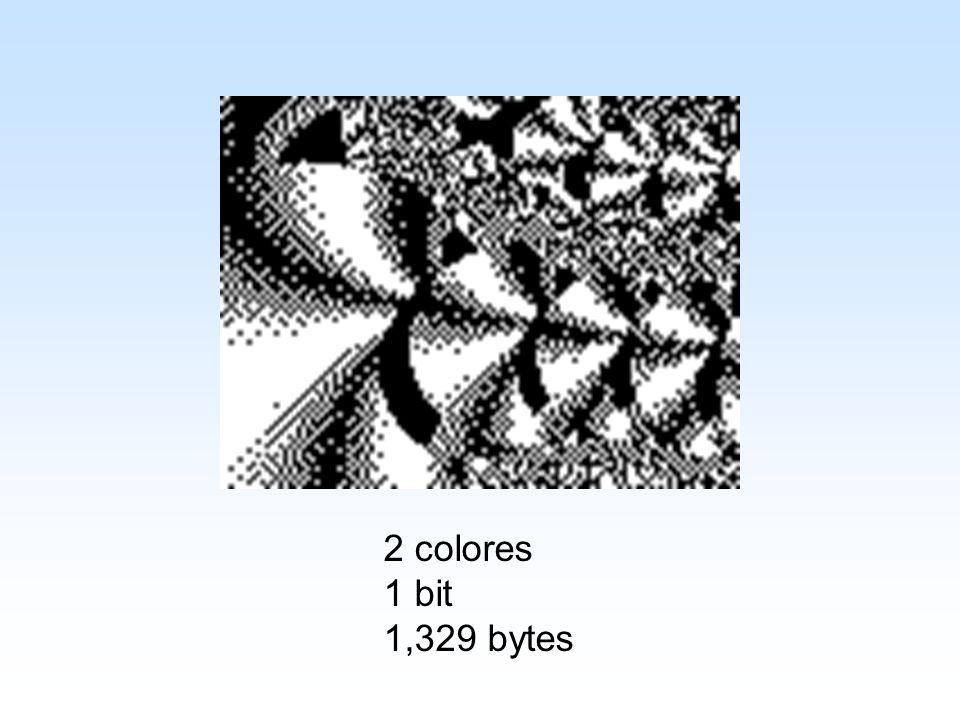 2 colores 1 bit 1,329 bytes