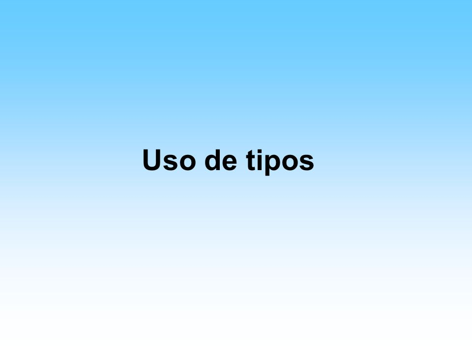 Los tipos Seis grupos básicos: –Oldstyle –Modern –Slab serif –Sans serif –Script –Decorative Tres familias –Serifs –Sans Serifs –Decorative