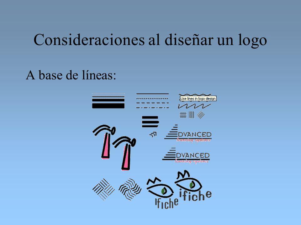 Consideraciones al diseñar un logo A base de líneas: