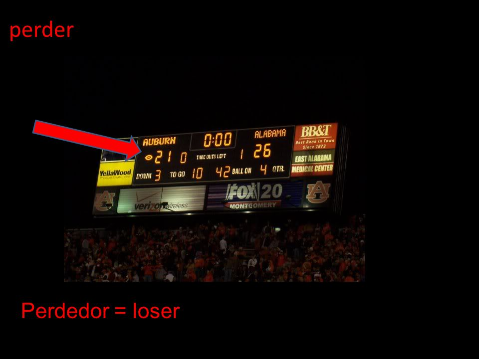 perder Perdedor = loser