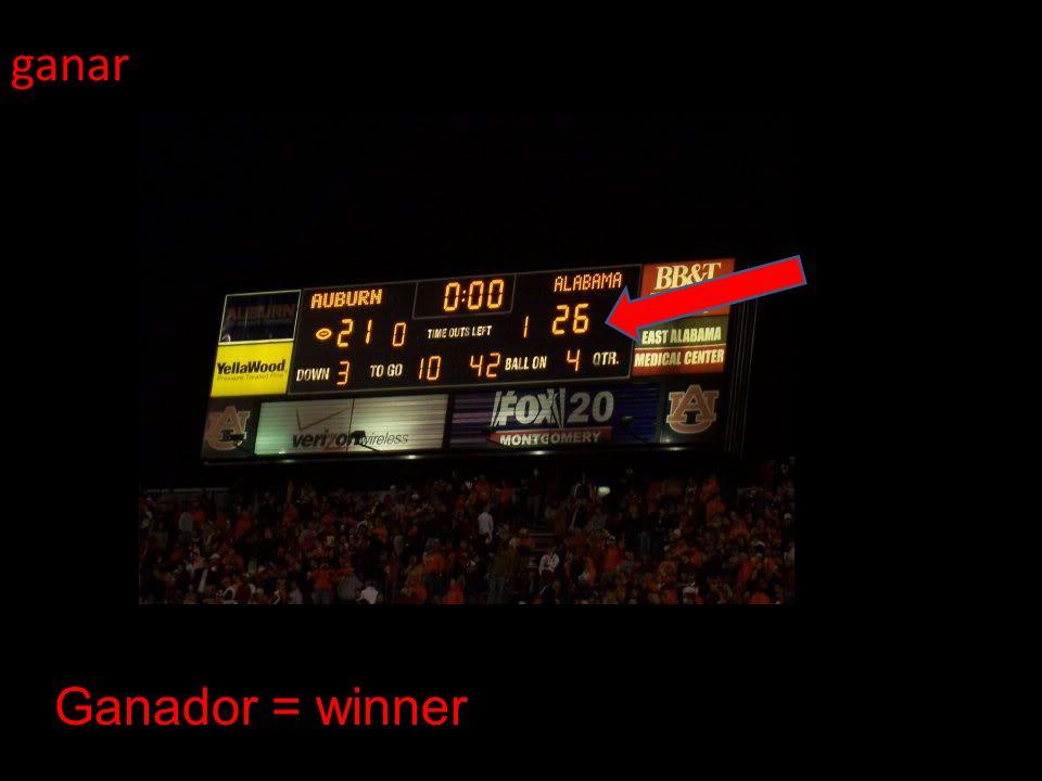 ganar Ganador = winner