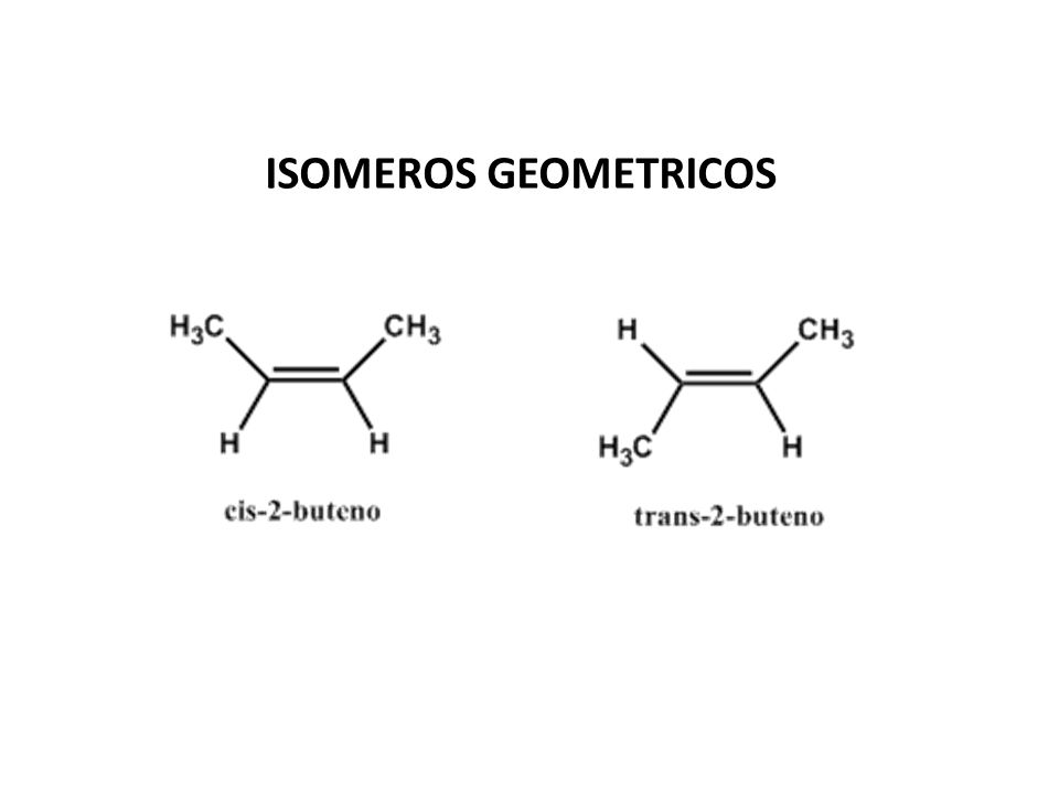 ISOMEROS GEOMETRICOS