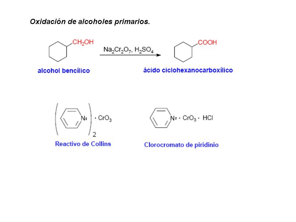 Oxidación de alcoholes primarios.
