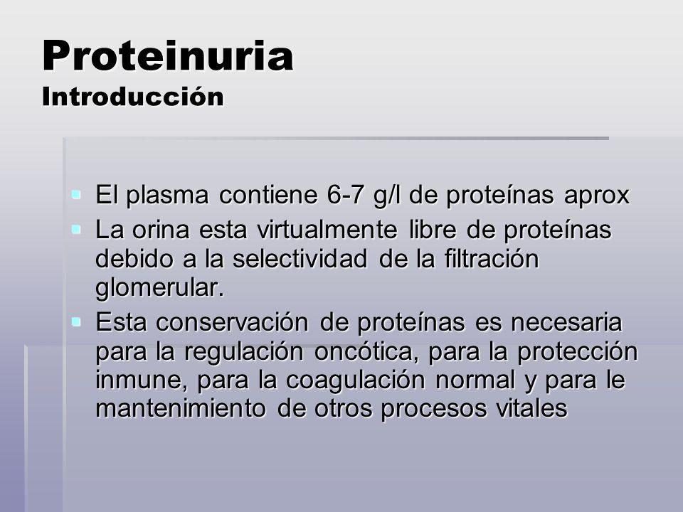 Proteinuria por Sobrecarga Suero Orina Proteinuria de Tipo Mielomatoso Antisuero anti- kappa/lambda: Bence Jones positiva