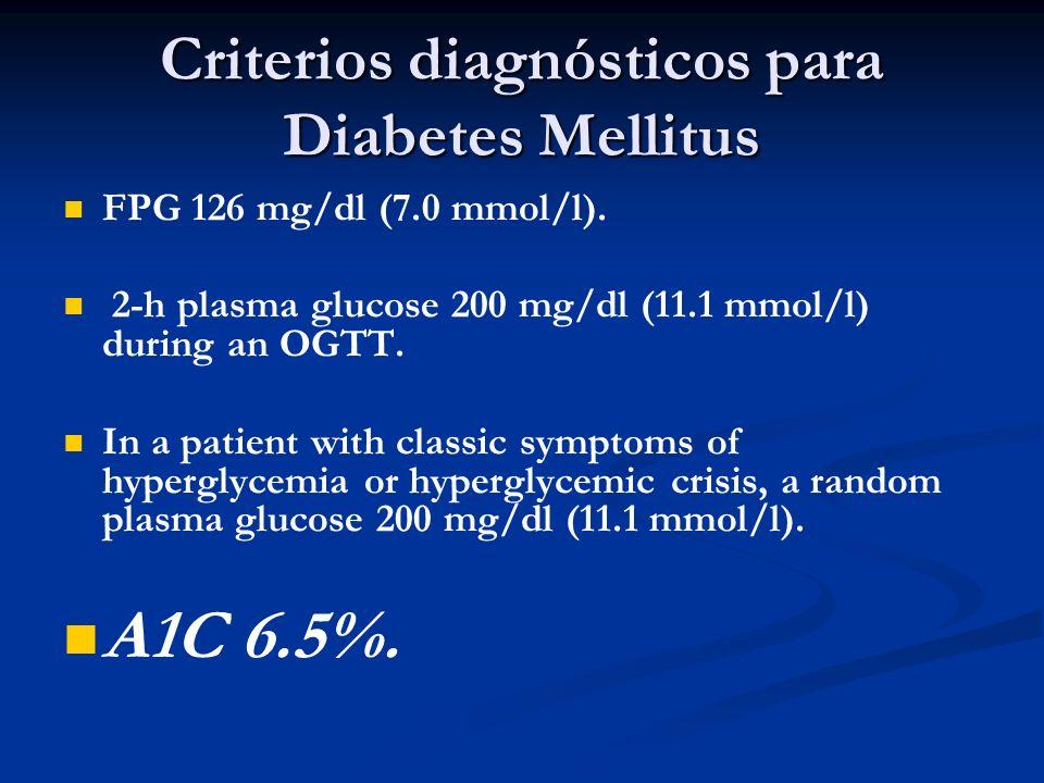 Hemoglobina Glicosilada (A1C) Elementos a favor: Refleja los niveles de glucemia de 2-3 meses.