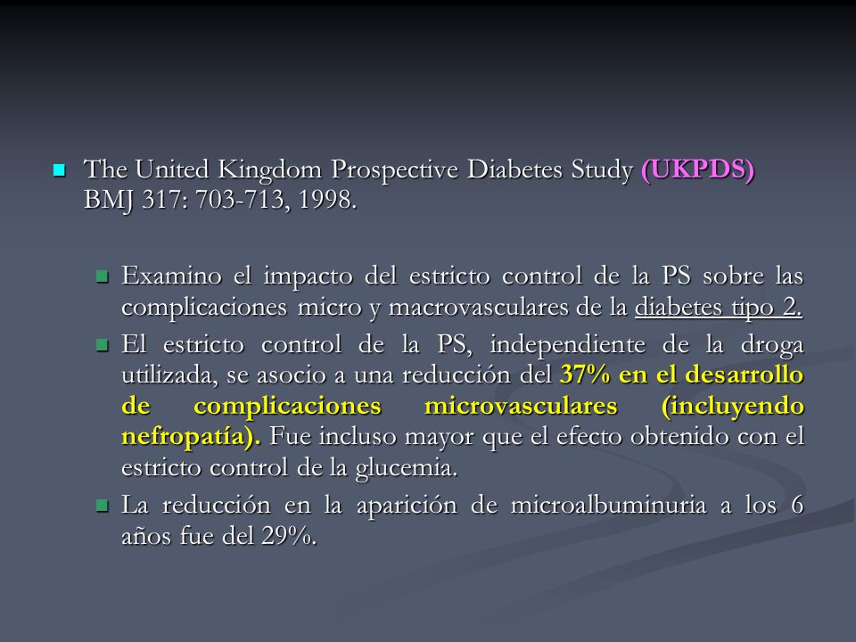 The United Kingdom Prospective Diabetes Study (UKPDS) BMJ 317: 703-713, 1998. The United Kingdom Prospective Diabetes Study (UKPDS) BMJ 317: 703-713,