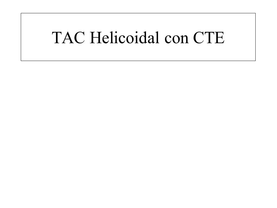 TAC Helicoidal con CTE