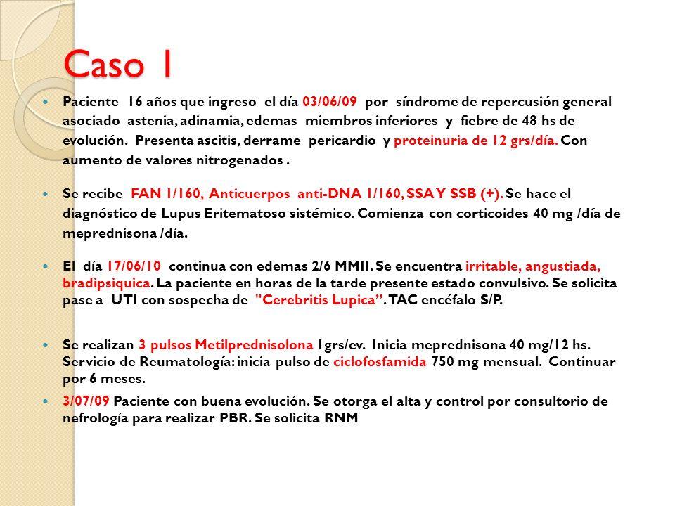 Pruebas Complementarias Autoanticuerpos han sido relacionados con clínica NP * Ac.