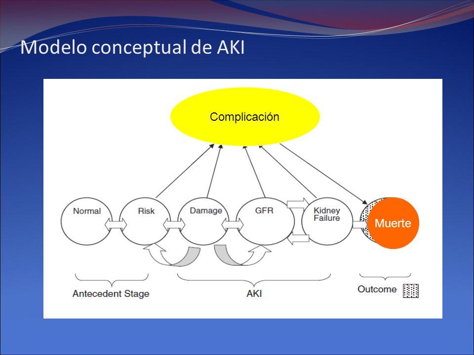 Modelo conceptual de AKI Complicación Muerte