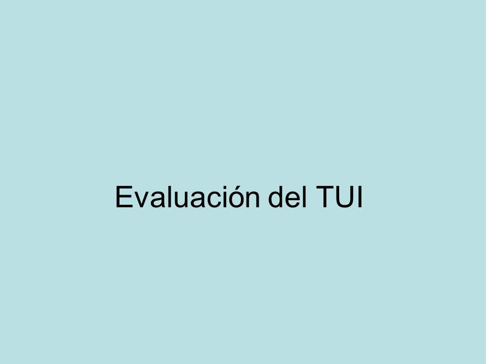 Evaluación del TUI