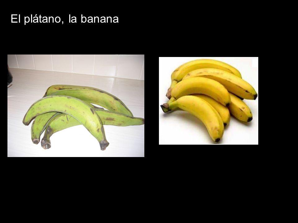 El plátano, la banana