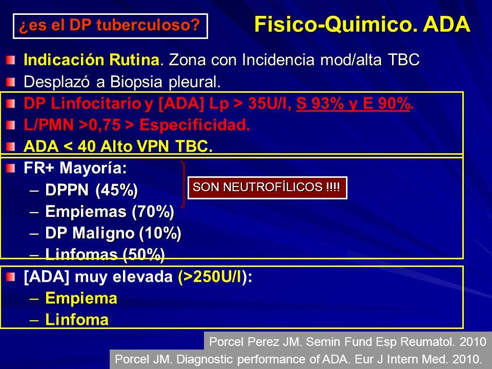 Zona con Incidencia mod/alta TBC Indicación Rutina.
