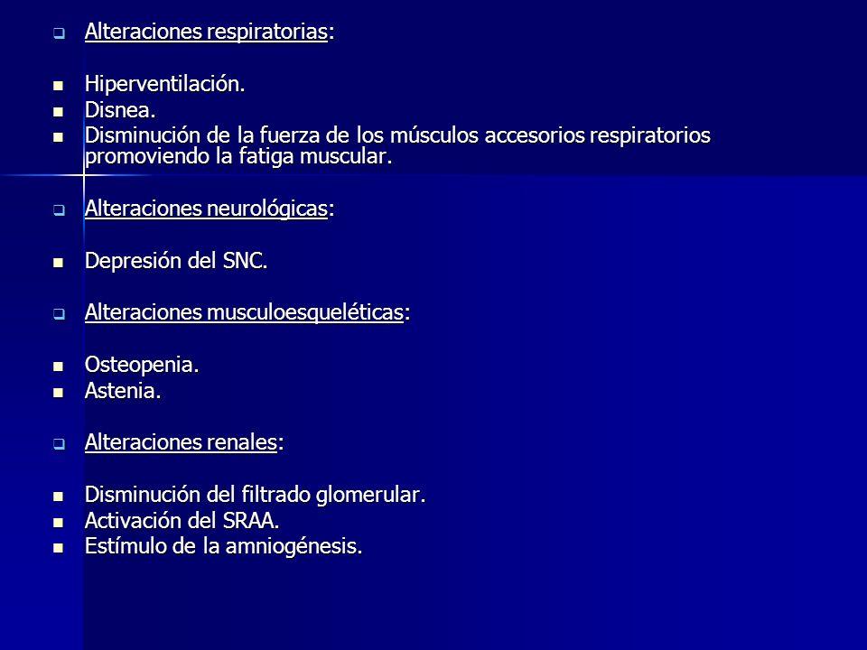 Clínica Alteraciones cardiovasculares: Alteraciones cardiovasculares: Disminución de la contractilidad cardíaca. Disminución de la contractilidad card